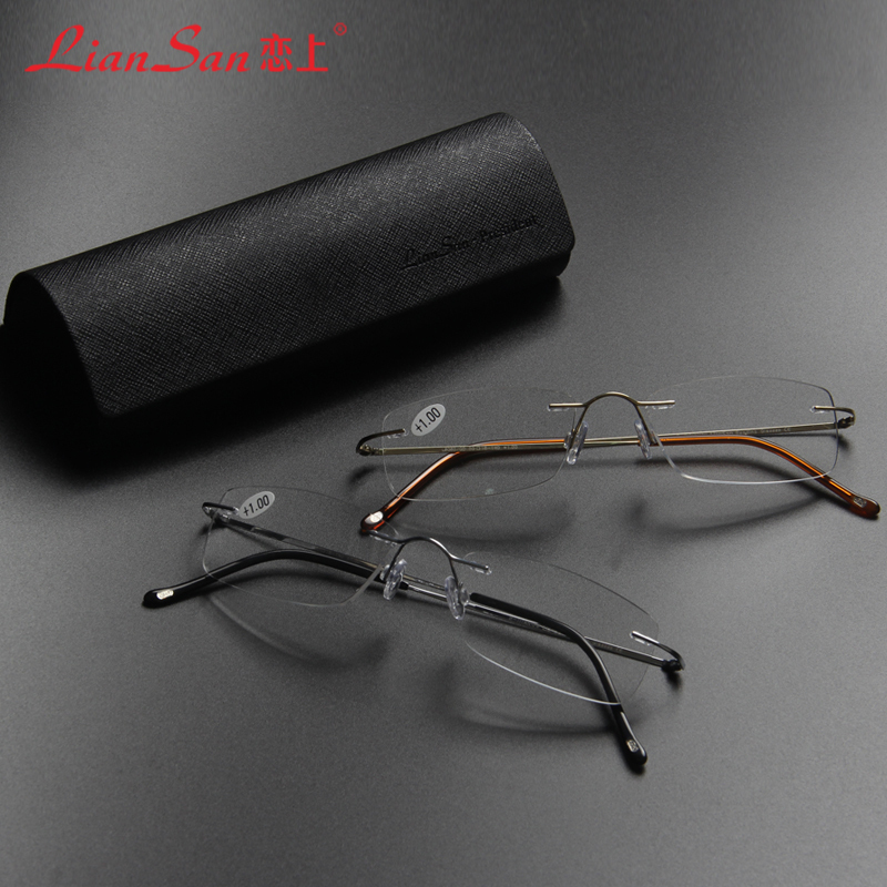 Super Lightweight Eyeglass Frames : 2015-LianSan-Lightweight-Rimless-Reading-Glasses-Titanium ...