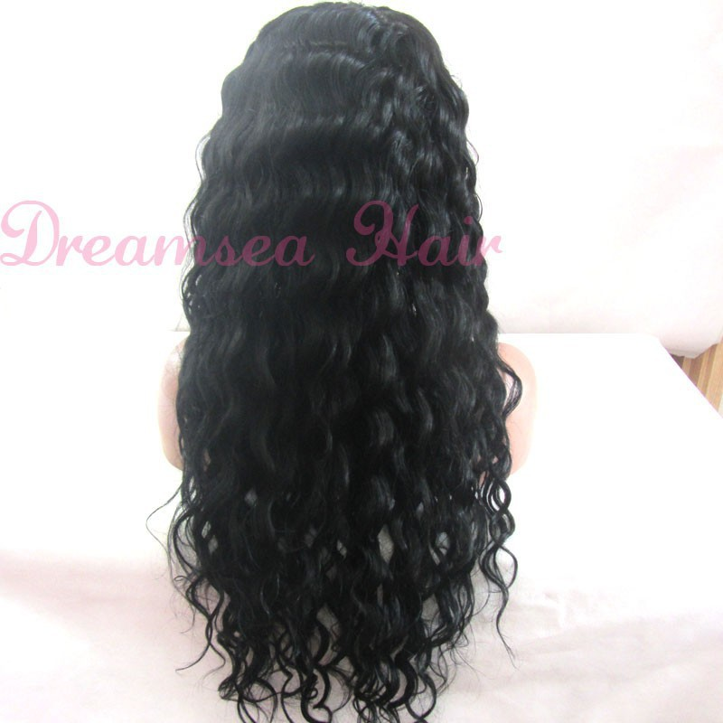 Lace wig 180 thick density long length bleached knots with free part