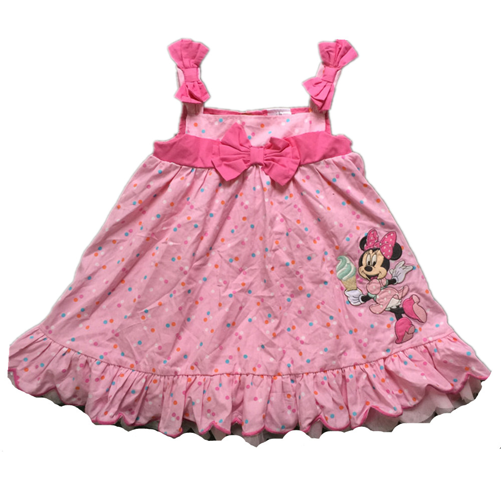 original brand 6pcs/lot, Infant Toddler Baby girl's Formal Wear Tuxedo Rompers,minnie mouse dress for baby girls, minnie dress(China (Mainland))