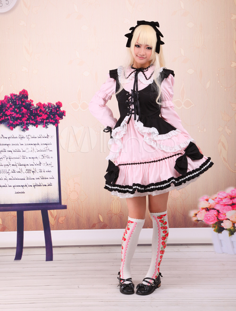 Free shipping! New Arrivals! High quality! Cotton Long Sleeves Ruffles Cosplay Lolita Dress