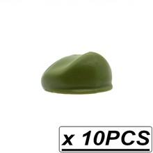 10 piezas WW2 MOC soldado casco militar sombrero de Gas máscara USHANKA bloques de construcción ladrillos Reino Unido Ejército alemán regalos juguetes(China)