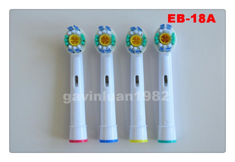 8шт х головки электрическая зубная щетка braun 3d белый действий Орал б eb-18/eb-18a электро зубная щетка
