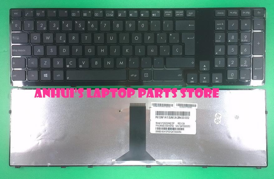 Laptop Keyboard For ASUS K93 K95 Black With Frame SP Spain V126202AK1 SP PK130NF1A15 04GN6S1KSP00-7(China (Mainland))
