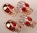 4pcs skull stud earrings set for women punk rock jewelry MWE22 wholesale
