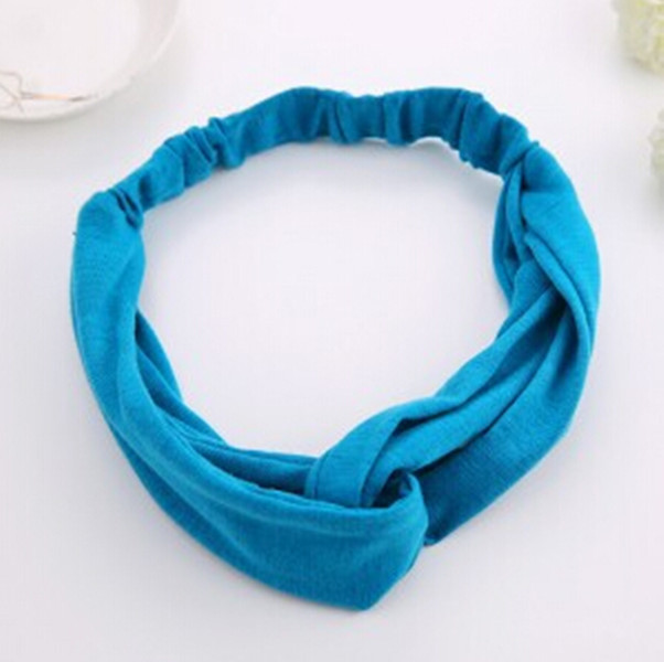 New 2015 Women's Cotton Turban Twist Head Knot Headband Wrap Twisted Knotted Hair Band(China (Mainland))