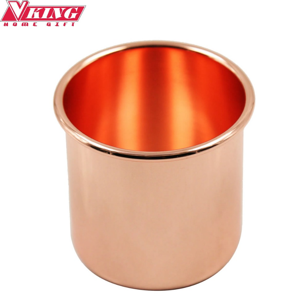 16OZ Stainless steel Moscow Mule Copper Mug Drinking Cups Candle cup Beer cup Rose Gold Plated cup Without Grip(China (Mainland))
