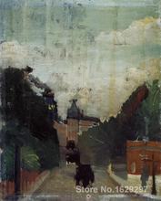 wall art modern View Palais du Metropolitan Henri Rousseau Paintings Hand painted - Thomas Kinkade Art Gallery store