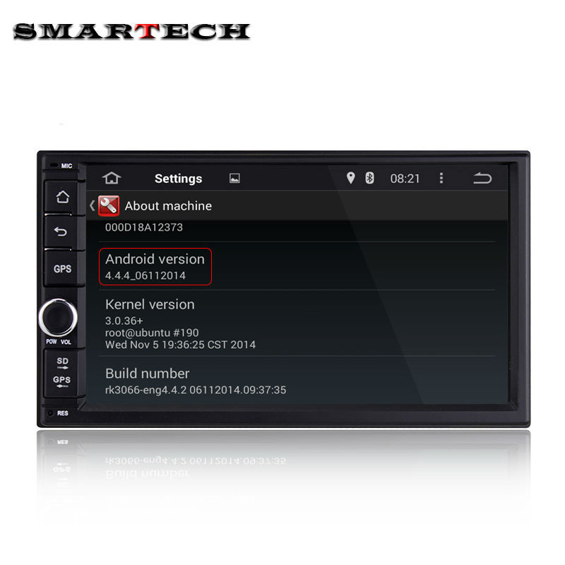 2 din 7 inch touch screen car stereo android 4 4 dual core car radio head