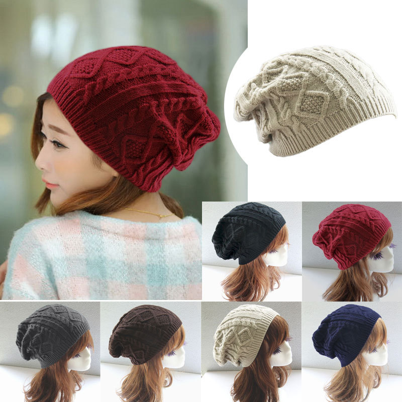 Women New Design Caps Twist Pattern Women Winter Hat Knitted Sweater Fashion Hats 6 colors Y1 Q1(China (Mainland))