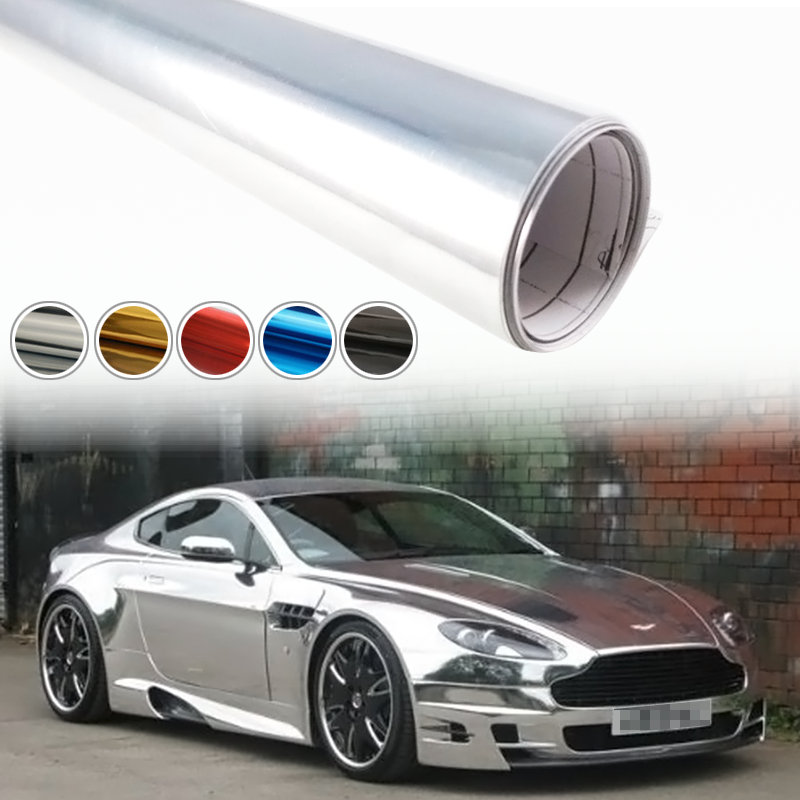 152*15cm DIY Car Sticker Auto Plating Coating Change Cool Boat Decal Exterior Car Decorations Accessories Chrome Cover Stickers(China (Mainland))