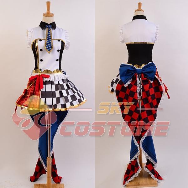 LoveLive! Rin Hoshizora Cafe Maid Dress Uniform Full Set Halloween Movie Cosplay CostumeОдежда и ак�е��уары<br><br><br>Aliexpress