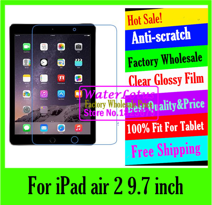 original Clear Glossy screen protector Computer projector notebook protective LCD film to plate laptop For iPad air 2 9.7 inch(China (Mainland))