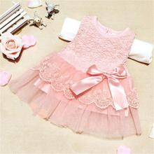 Girls Dresses Summer 2016 Princess Dress White Baby Dress Lace Cute Dress(China (Mainland))