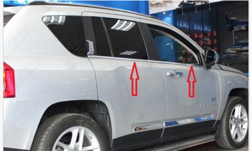 Chrome Window Trim sill lines For JEEP COMPASS 2007 - 2011 2012<br><br>Aliexpress
