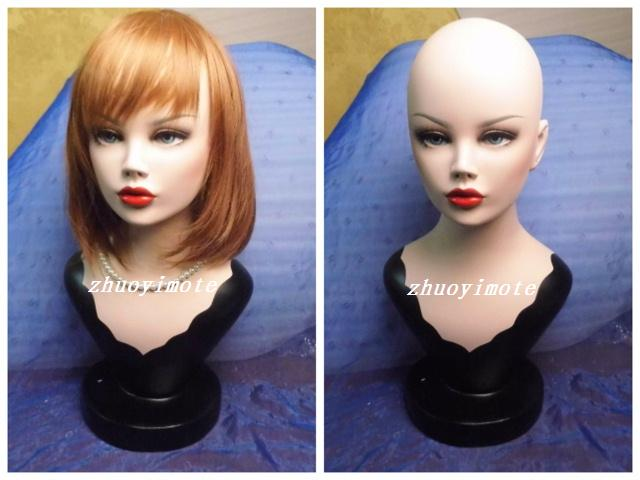 !High quality Fiberglass Realistic female manikin dummy head  mannequin heads bust for wigs & hat & sunglass & jewelry display
