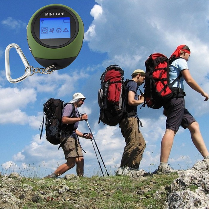 Outdoor Sport Travel Mini GPS Navigation PG03 Mini Portable Handheld gps with Keychain made in china free shipping(Hong Kong)
