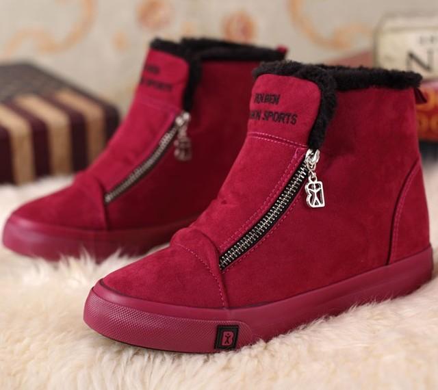 Бесплатная доставка высокая платформа стадо ботильоны женщин мода марка зимние ботинки ...