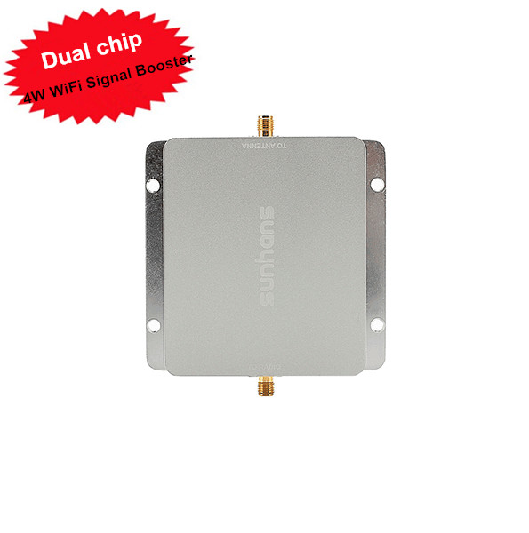 Sunhans SH24Gi4000 Wireless WiFi Signal Booster 4W 2.4Ghz 36dBm Repeater Amplifier Dual chip, For Hotel, Market, Factory use(China (Mainland))