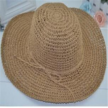 Reentry beanie hat brimmed hat Korean version of the summer beach hat folding straw beach hat(China (Mainland))