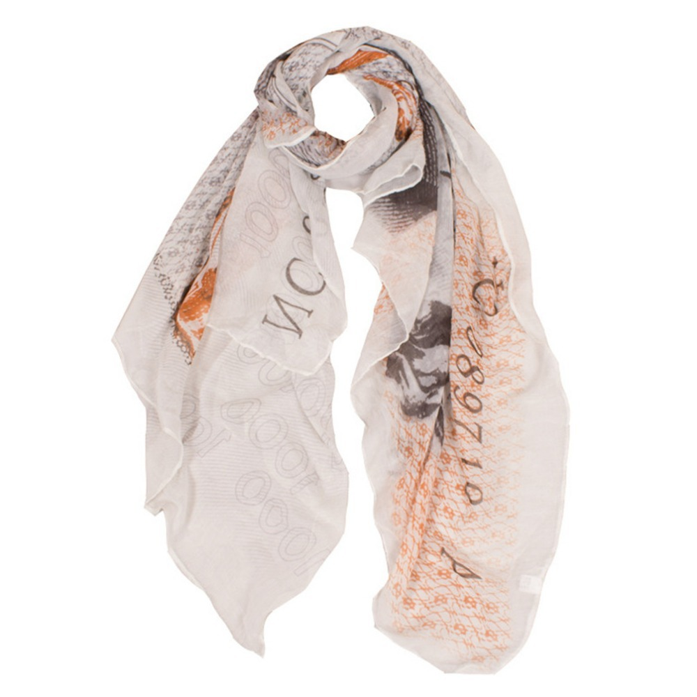 mr right womens italian currency lira voile stole scarves