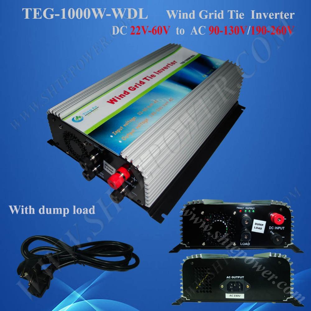 1000w grid tie inverter 24v to 220v, power inverter for wind turbine generator(China (Mainland))