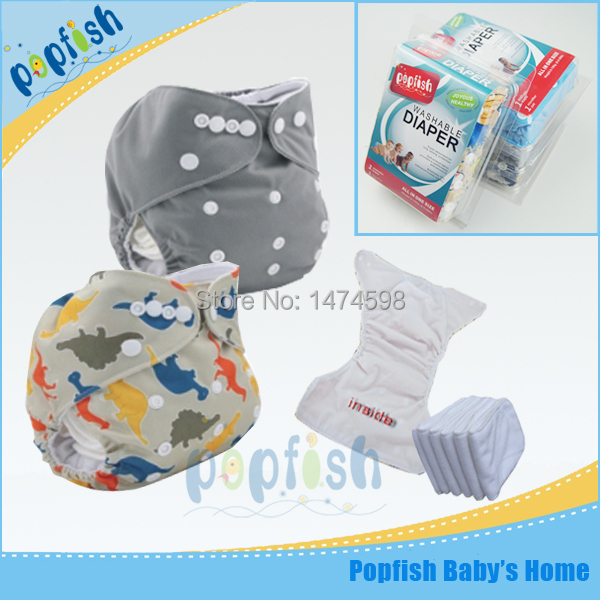Printing Fabric Disposable Fashion Baby Diaper Cloth Nappy Reusable Diapers PUL Baby Diaper Gift Box Packing Free Shipping(China (Mainland))