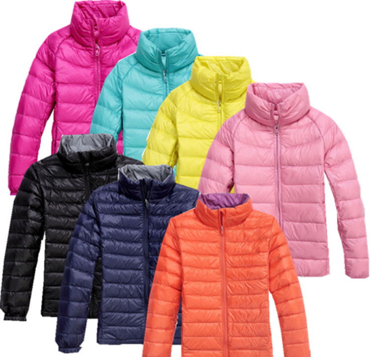 Boys &amp; Girls Ultra Light Winter Jackets Stand Collar Kids White Duck Down Padded Coats Winter Outdoor Down Parkas Unisex BC-030<br><br>Aliexpress