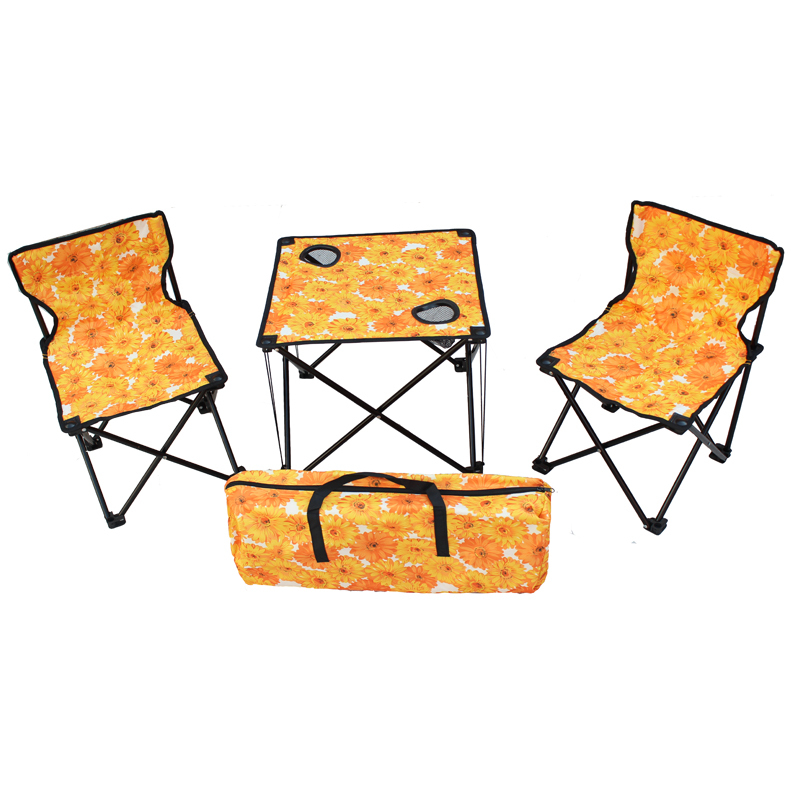 Travelling Outdoor folding tables and chairs set portable tables and chairs f