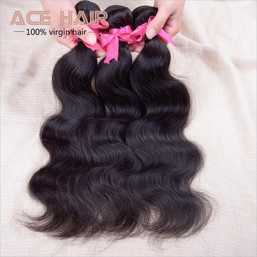 """Peruvian Virgin Hair Body Wave 3pcs Peruvian Body Wave Virgin Peruvian Hair Remy Human Hair Extension Natural Black Hair 8-30""""(China (Mainland))"""