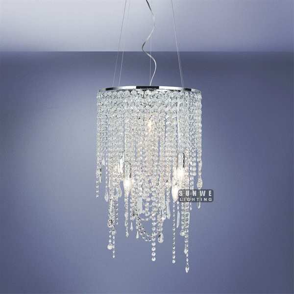Mini Chrome Crystal Chandelier Light Pendant Metal Chandelier Lamp Small Bedroom Crystal