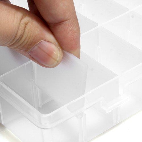 2015 Best Sale 2x Pills False Nail Art Tips Storage Box Case 24 Compartments Craft(China (Mainland))