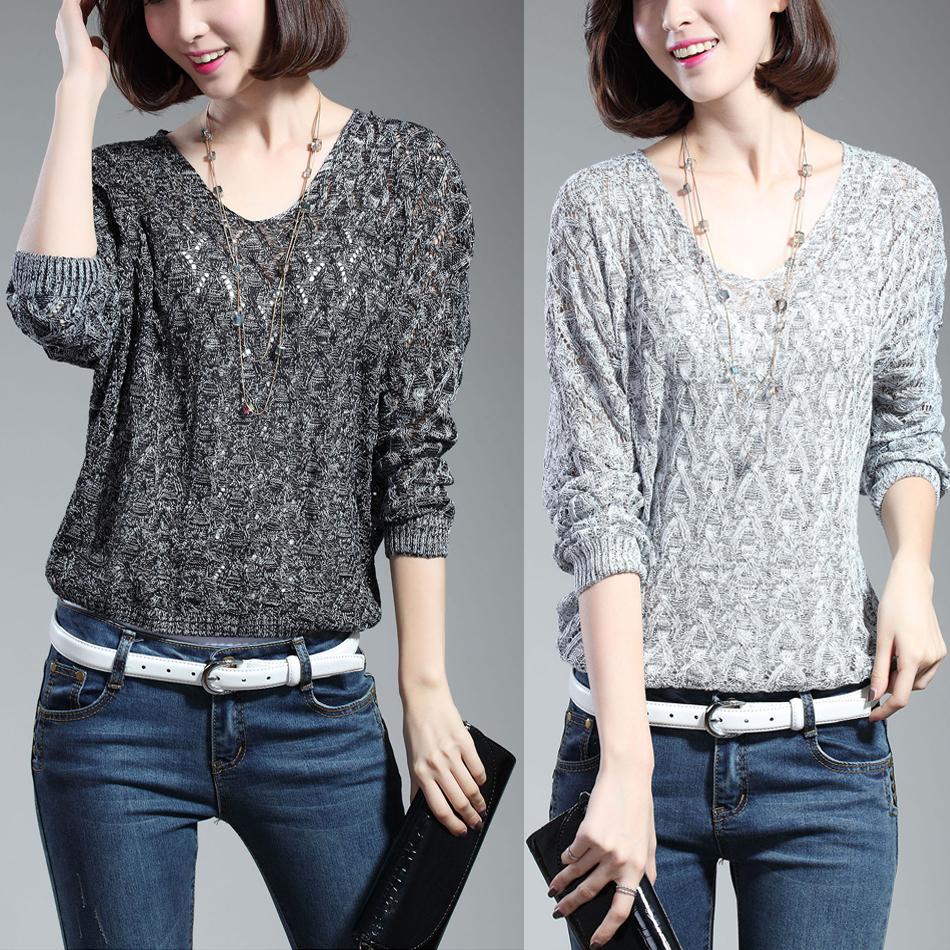 Женский пуловер 2015 o Batwing