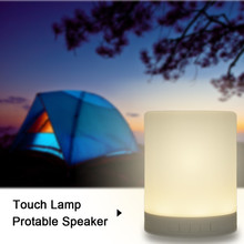 New Smart Wireless Bluetooth Speaker Music Sound Box Mini Night Light for Home Touch LED Tablelamp Support TF Cards 6 Colors(China (Mainland))