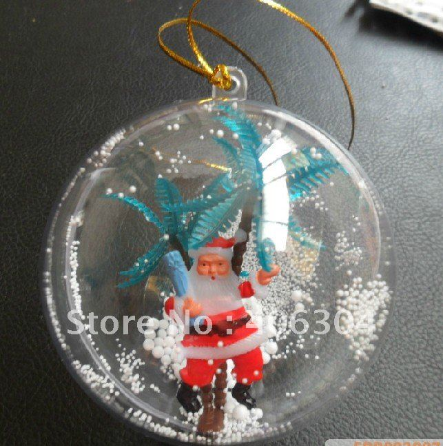 Free shipping,12cm transparent hanging christmas ball/baubles,clear plastic christmas ornaments,shop window display(China (Mainland))