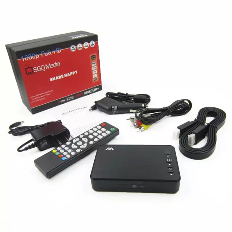 New Full HD Media Player Mini Autoplay 1080p SD/U Disk HDD Media Player With HDMI VGA Output for HDTV Free Shipping(China (Mainland))