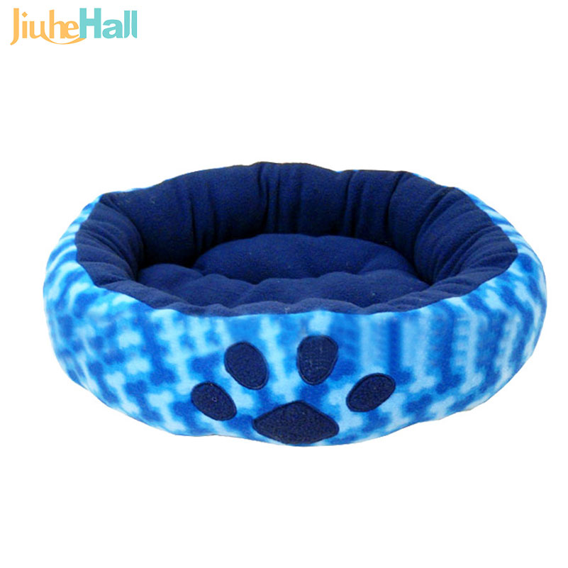 2016 New Design Paw Prints Pet Dog Waterloo Diameter 50 CM Teddy Dog Bed Mat High Quality Fashion House Nest CLD175(China (Mainland))
