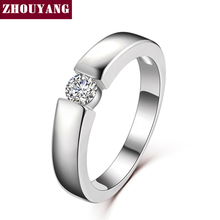 Buy ZHOUYANG 4.5mm Hearts Arrows Cubic Zirconia Wedding Ring Rose Gold & Silver Color Classical Finger Ring R400 R406 for $1.24 in AliExpress store