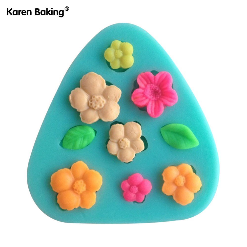 3D Silicone Mold Flower And Leaves Shapes Mould For Soap,Candy,Chocolate,Ice,Cake CCC014(China (Mainland))