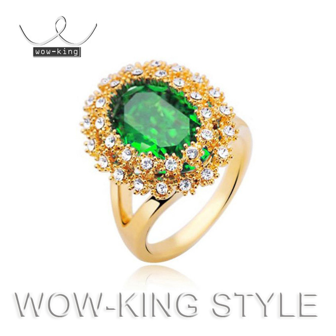 s Ring Australia Crystal 18K Gold Jewelry(Inside Diameter 17 mm)Flower Finger Rings 1072 - CHINA CRAFT OF WOW-KING store