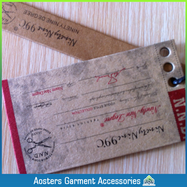 Free shipping wholesale OEM customized paper hang tags personalized clothing tags custom name hang tags $59lot(China (Mainland))