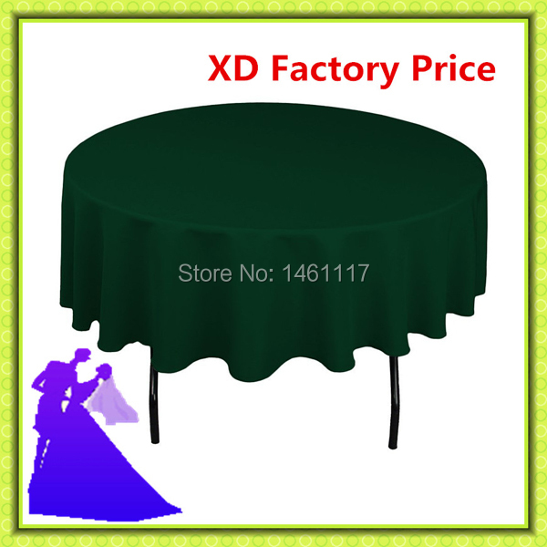 """90"""" table cloth with 100% polyester / wholesale Brand new various colors sash / spandex chair covers(China (Mainland))"""
