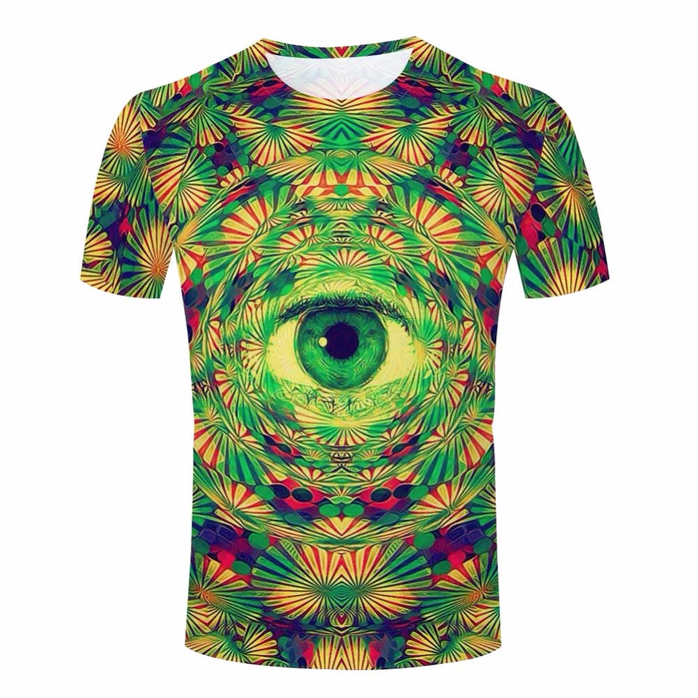 psychedelic cat t shirts don t trust anyone
