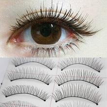 10 Pairs Women Ladies Makeup Thick Long False Eyelashes Eye Lashes Long Black Nautral Handmade Makeup Beauty Tools(China (Mainland))