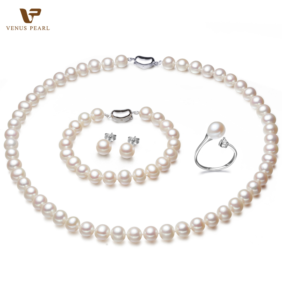 2015 summer pearl jewelry sets necklaces bracelets. Black Bedroom Furniture Sets. Home Design Ideas
