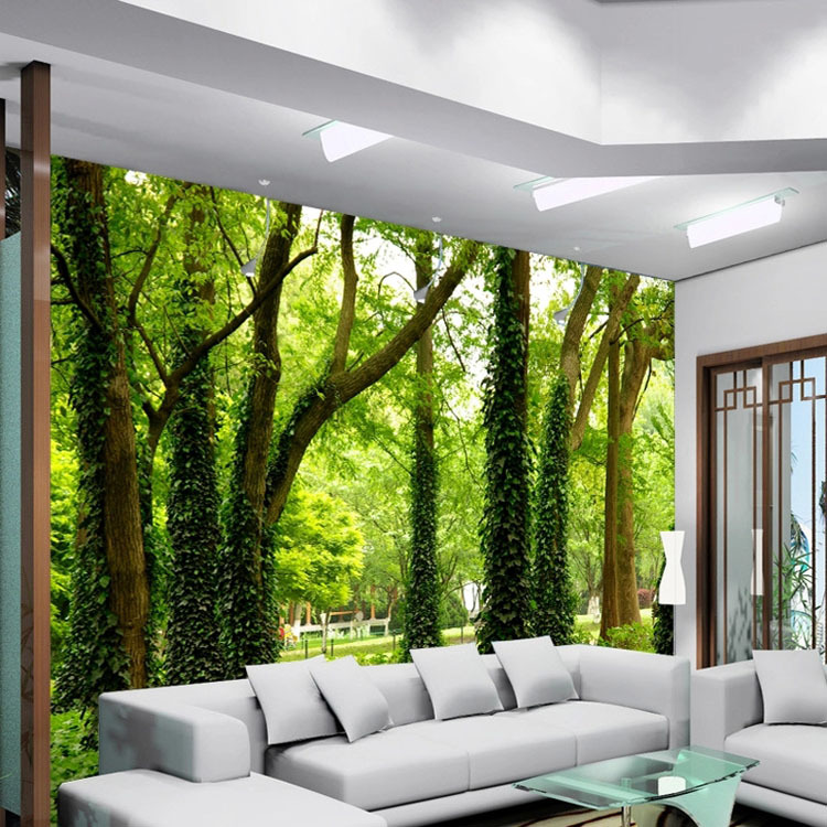 28+ [ house wall murals ] | forest wood landscape trees wallpaper