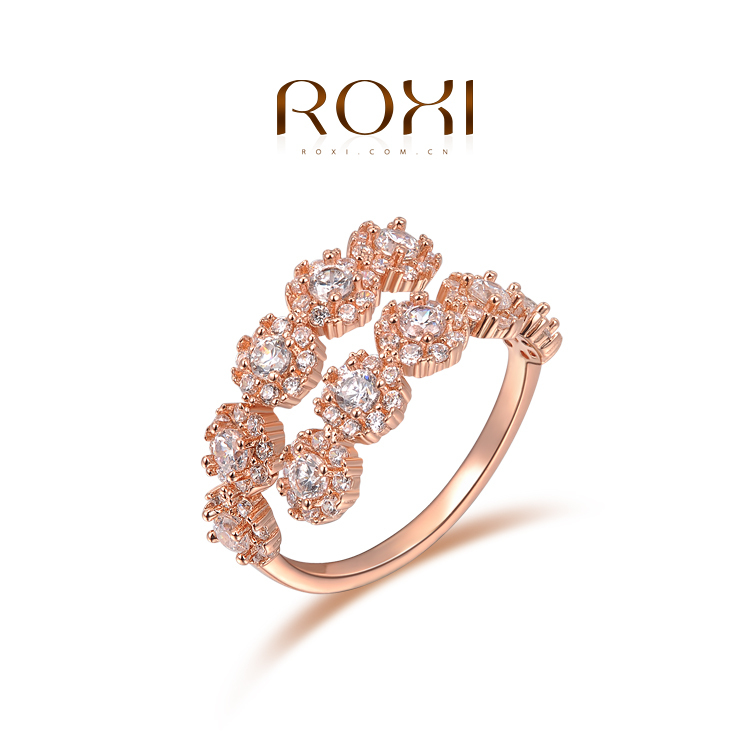 ROXI Classic New Design Genuine Rose/White Gold Plated Austrian Crystals Luxury Ring Elegant Women Jewelry SZ(China (Mainland))