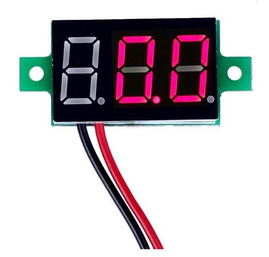 LED Two-Line DC Reverse Polarity Protection DC3.3-30V Red Digital Voltmeter(China (Mainland))