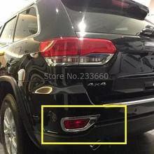 for Jeep grand cherokee 2014 2015 ABS Chromed tail rear fog lamp shield cover frame trim Exterior Decorations 2PCS(China (Mainland))