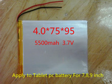 The New Battery 5500mAH Li-ion Tablet pc battery For 7,8,9 inch tablet PC ICOO 3.7V Polymer lithiumion Battery With High Quality(China (Mainland))