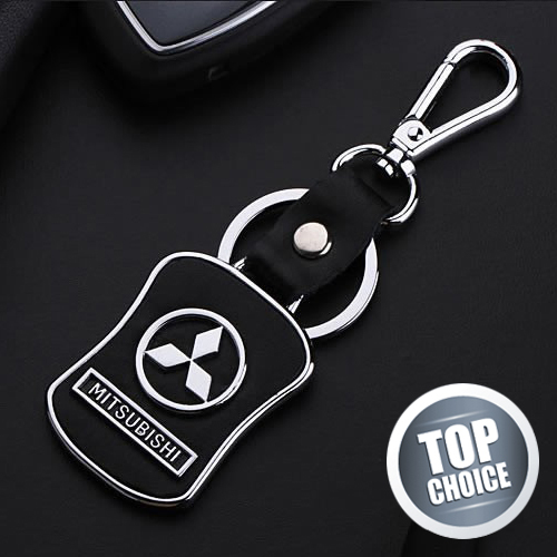 Luxury Leather Mitsubishi Keychain Key Ring Car Styling for Mitsubishi Lancer 9 10 ASX Pajero Sport Outlander 2014 Accessories<br><br>Aliexpress